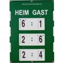 TENNIS SCOREBOARD ANZEIGETAFEL POINTER FOR MATCH XL