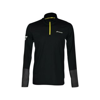 Babolat Core 1 2 Zip Langarm Shirt - Herren - Schwarz Grau
