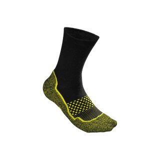 WILSON AMPLIFEEL SOCK M 39-46 Black/Safety Yellow