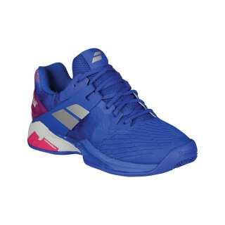 BABOLAT PROPULSE FURY CLAY WOMEN Princess Blue/Fandago Pink