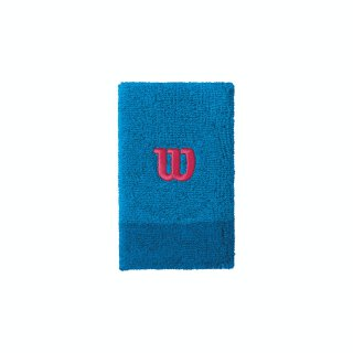 WILSON EXTRA WIDE W WRISTBAND Brilliant Blue/Imperial Blue/Granite