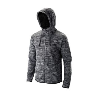 WILSON TRAINING HOODED JACKET M Black Heather