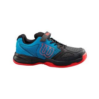Wilson Kaos Kids Tennis Schuhe - Kinder - Blau Schwarz Koralle