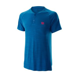 Wilson Competition Seamless Henley Shirt - Herren - Blau