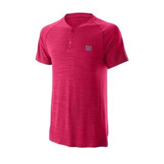 Wilson Competition Seamless Henley Shirt - Herren - Granita
