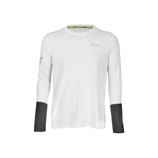 Babolat Core LS Tee Shirt - Herren - Weiss Grau