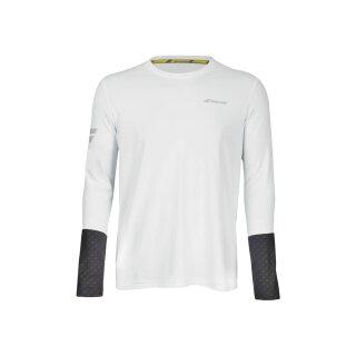 Babolat Core Long Sleve Tee Shirt - Herren - Weiss Grau