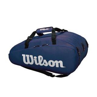 Wilson Tour 3 Compartment Tennistasche 15 Rackets - Dunkelblau Weiß