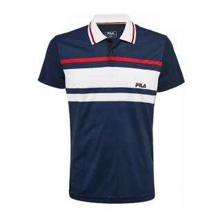 Fila Polo Tony Shirt - Herren - Marineblau Weiss Fila Rot