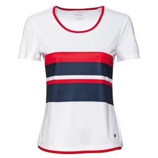 Fila T-Shirt Samira Sport Shirt - Damen - Weiss Marineblau Fila Rot