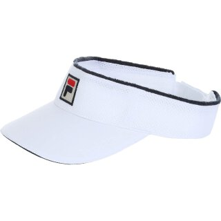 Fila Vuckonic Mesh Visor Hat Kappe - Weiß/Marineblau