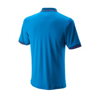WILSON STAR TIPPED POLO M Blau