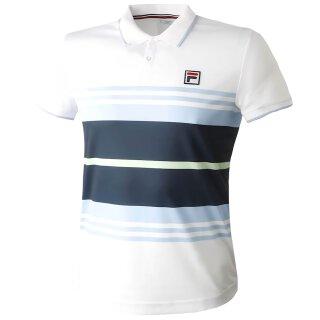 Fila Polo Linus Shirt - Herren - Weiß Hellblau Marineblau Pistaziengrün