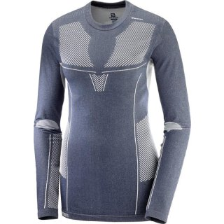 Salomon Primo Warm Seamless Tee Langarm Shirt - Damen - Night Sky