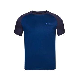 Babolat Play Crew Neck Tee Shirt - Jugend - Dunkelblau Kinder Tennis Jungs Boys