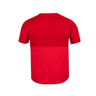 BABOLAT PLAY CREW NECK TEE BOY Rot