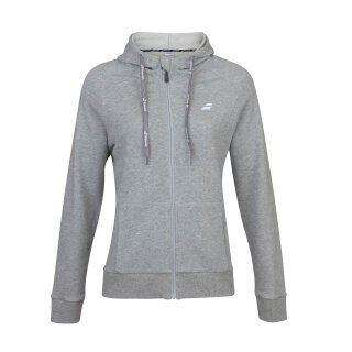 BABOLAT EXERCISE HOOD JACKET GIRL Grau
