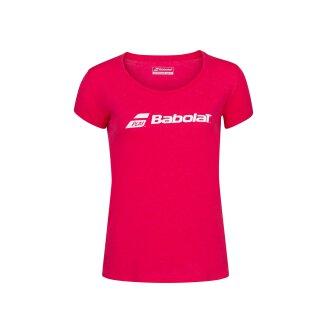BABOLAT EXERCISE BABOLAT TEE WOMEN Red Rose Hthr