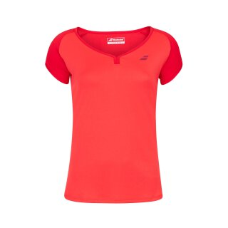 BABOLAT PLAY CAP SLEEVE TOP WOMEN Tomato Red