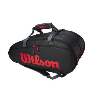 Wilson Tour 3 Compartment Clash Tennis Bag Black/Infrared/Grey