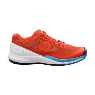 Wilson Rush Pro 3.0 Mens Tennis Shoes Tangerine/White/Bonnie Blue