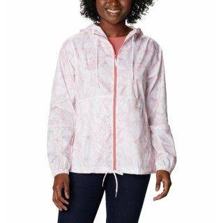 Columbia Womens Flash Forward Printed Windbreaker Jacket White/Art Bouquet Print/Tonal