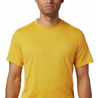 Columbia Zero Rules Mens Short Sleeve Shirt Bright Gold