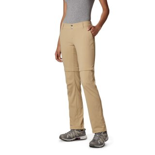Columbia Womens Saturday Trail II Stretch Convertible Pant British Tan