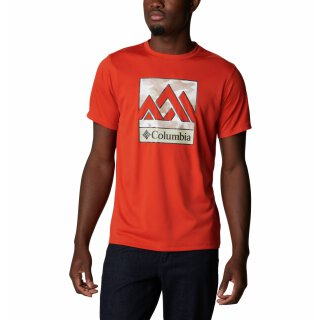 Columbia Mens Zero Rules Short Sleeve Graphic T-Shirt Bonfire