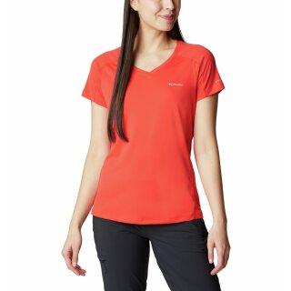 Columbia Womens Zero Rules Short Sleeve Shirt Bold Orange
