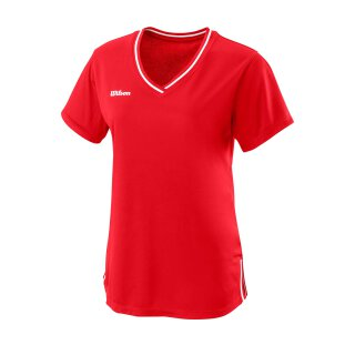 Wilson Womens Team II V-Neck Shirt – Team Red