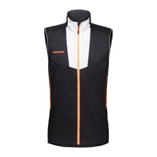 Mammut Mens Rime Light in Flex Insulating Vest - Black/White/Vibrant Orange