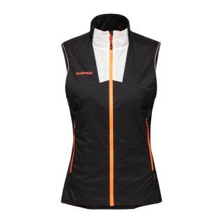 Mammut Womens Rime Light in Flex Insulating Vest - Black/White/Vibrant Orange