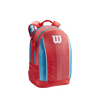 Wilson Junior Backpack- Coral/Blue/White