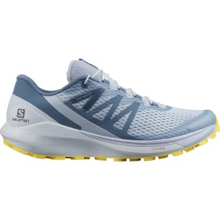 Salomon Womens Sense Ride 4 Trail Running Shoes - Arctic Ice/Kentucky Blue/Lemon Zest