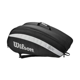 Wilson Roger Federer Team 12 Pack Tennis Bag - Black