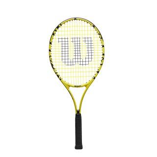 Wilson Minions Junior 25 Tennis Racket - Childrens Tennis Racket - Yellow/Black
