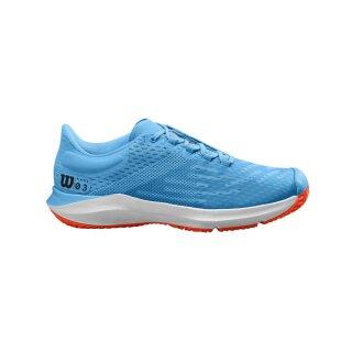 Wilson Kaos 3.0 Junior Tennis Shoes - Bonnie Blue/White/Tangerine