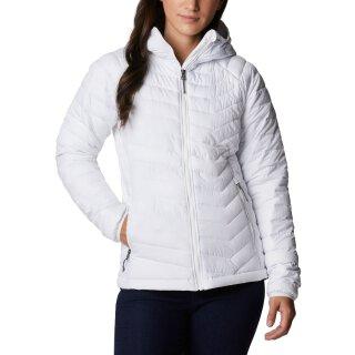Columbia Powder Light Hooded Jacket Freizeit Jacke - Damen - White