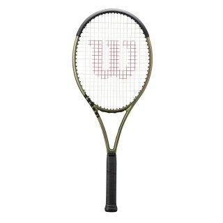 Wilson Blade 104 V8.0 Tennisschläger - Racket 16x19 290g - Metallic Grün Metal