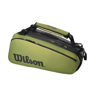 Wilson Super Tour 2 Blade Compartment Tennistasche 9 Rackets - Schwarz Grün