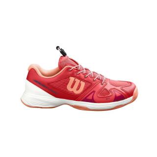 Wilson Rush Pro Junior QL Tennis Shoes - Kids - Cayenne White Papaya