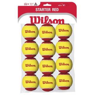 WILSON STARTER EASY RED BALLS 12 PK