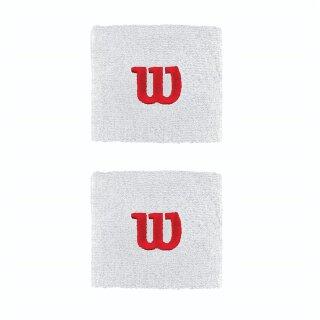 Wilson Wirstband Schweißband - Unisex - Weiß Rot
