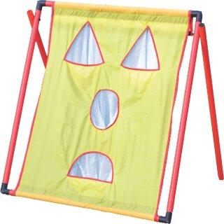 Zielschießwand Tennis Wurfziel Ziel Netz Target Aufsteller - Gelb Rot