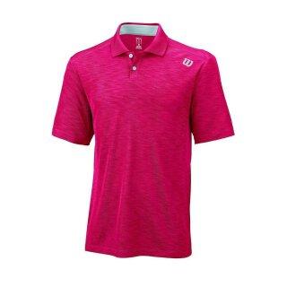 Wilson Textured Polo Shirt - Herren - Rot Silber