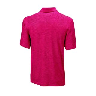 WILSON TEXTURED POLO M Rot/Silber