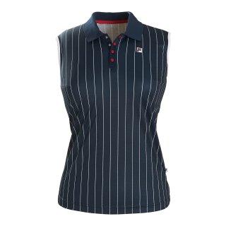 Fila American Polo Pia Shirt - Damen - Marineblau Gestreift