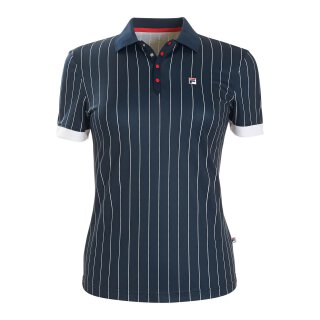 Fila Polo Pauline Shirt - Damen - Marineblau Gestreift
