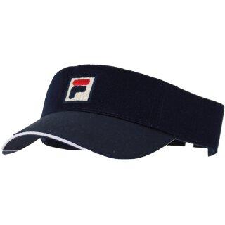 Fila Vuckonic Mesh Visor Hat Kappe - Unisex - Marineblau Weiß